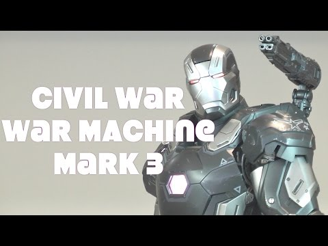 Hot Toys Captain America Civil War Mark 3 War Machine unboxing MMS 344