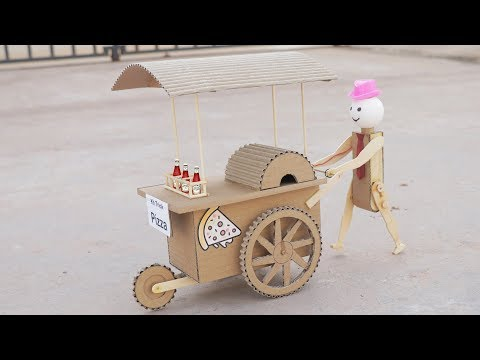 Wow! Amazing DIY Robot Pizza Cart Toy For Kids From Cardboard