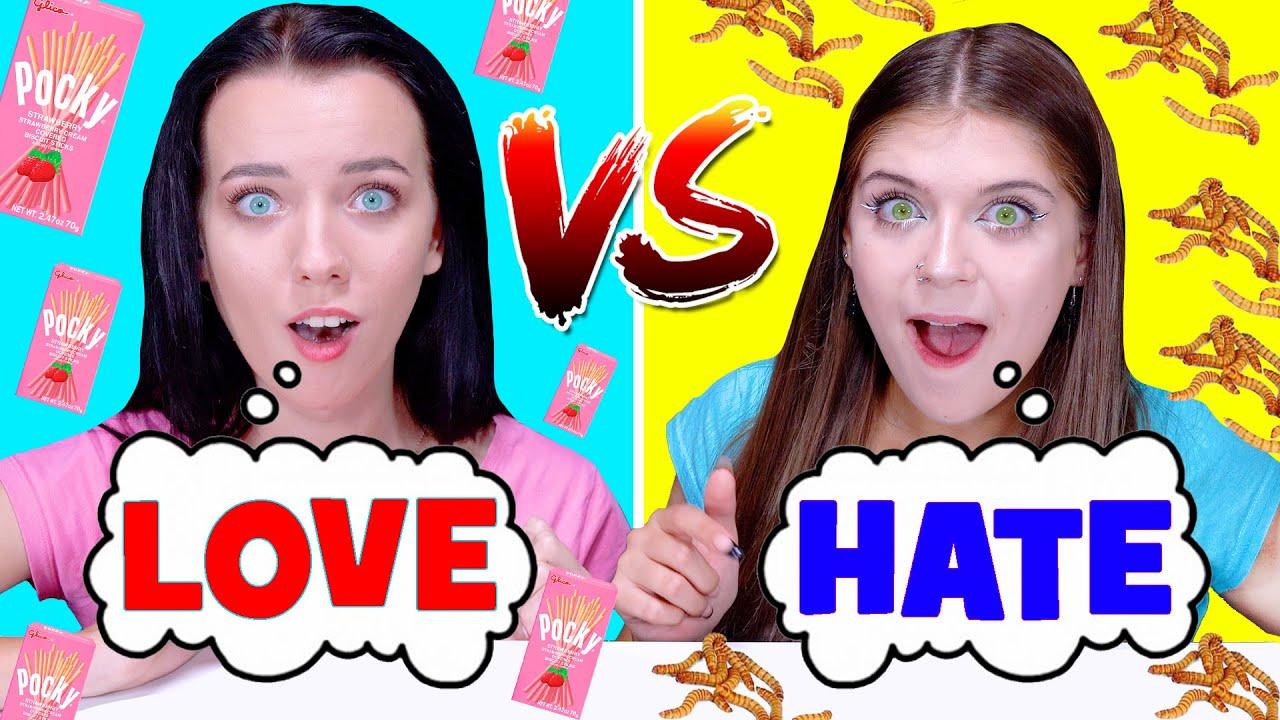 ASMR LOVE VS HATE FOOD CHALLENGE BY LiLiBu #3