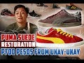 Puma Suede Restoration and Customization | GIVE AWAY