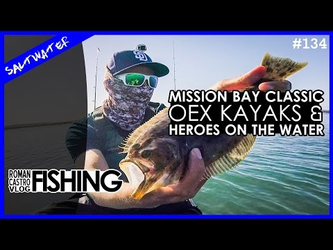 San Diego Fishing - Mission Bay Classic Kayak Bass Fishing Tournament for Heroes On The Water 2017