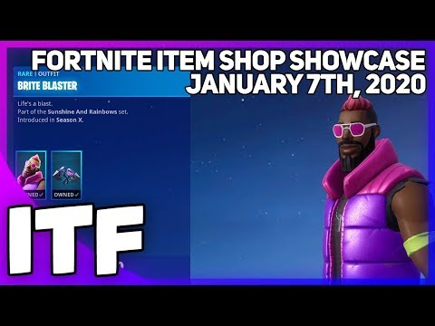 Fortnite Item Shop *NEW* BRITE BLASTER SKIN SET! [January 7th, 2020] (Fortnite Battle Royale)