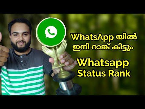 Whatsapp യിൽ Status ഇട്ടാലും ഇനി Rank കിട്ടും l Whatsapp Status Ranking l പുതിയ അപ്ഡേറ്റ് വന്നു 🔥