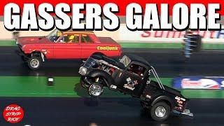 Old School Gasser Nostalgia Drag Racing Blue Suede Cruise 2018