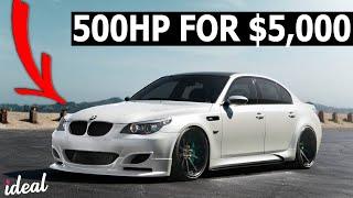 5 Dirt Cheap Cars With 500HP!