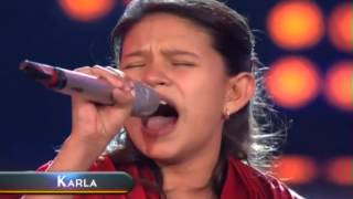 "Karla Herrarte, ""All By Myself"", SOLA OTRA VEZ, La Academia Kids 2, Concierto 8, mp4"