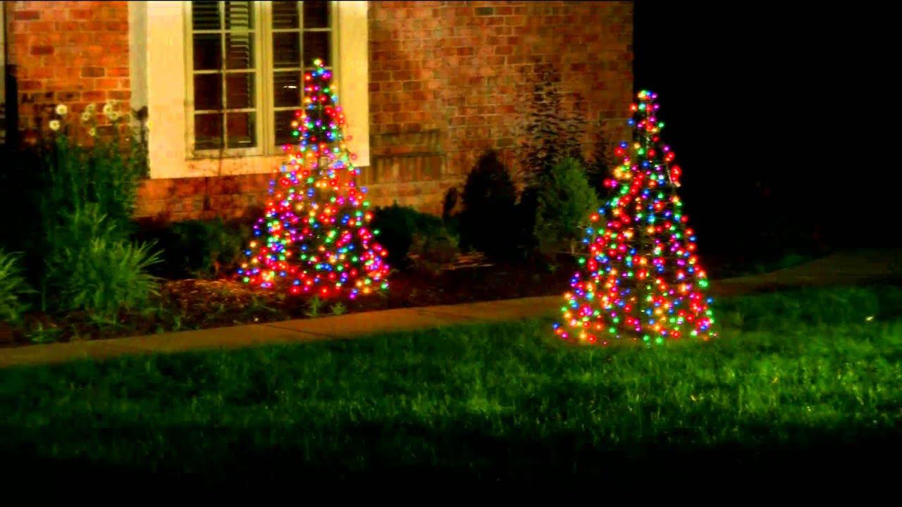Pre-Lit 5' Fold Flat Outdoor Christmas Tree By Lori