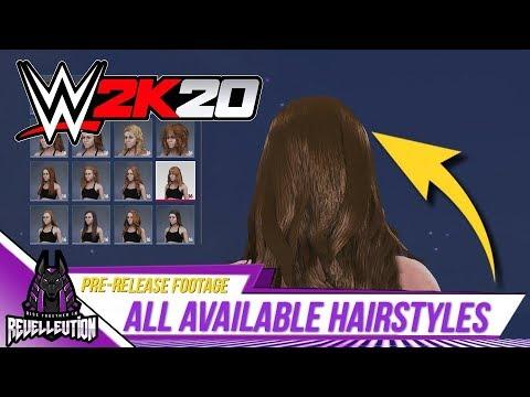 WWE 2K20: Available Hairstyles #WWE2K20 #WWE thumbnail