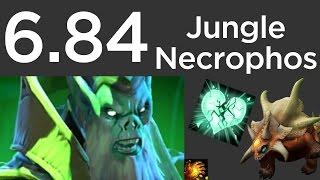 6.84 Necrophos Jungle Guide: Ancients - Level 6 + Midas 6m  - Leafeator DotA