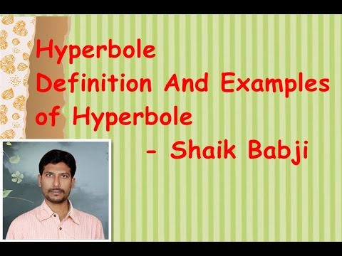 definition hyperbole Hyperbole is a figure of speech that uses an exaggerated statement to create a strong emotional response this page explains and demonstrates hyperbole vocabulary.