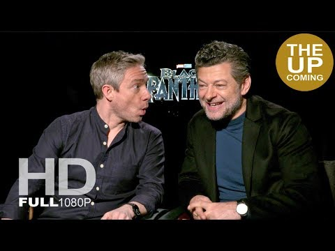 Martin Freeman and Andy Serkis interview on the casino set and destroying it– Black Panther