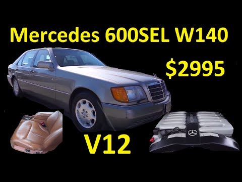 A Dose of Vitamin V12 ~ S600 Mercedes Benz W140 For Sale $2995