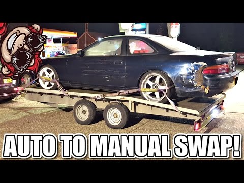 🐒 AUTO TO MANUAL TRANSMISSION SWAP 1JZ SC300 SOARER