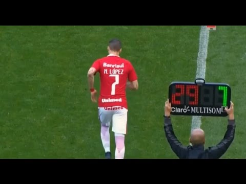 Nicolás López vs Corinthians - Debut S. C. Internacional 31/07/2016