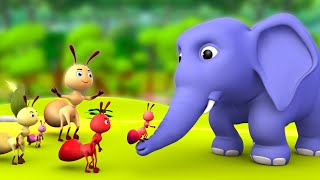 The Elephant & Ant 3D Animated Hindi Moral Stories for Kids - घमंडी हाथी और चींटी हिन्दी कहानी Tales