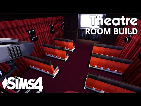 The Sims 4 Room Build - Theatre