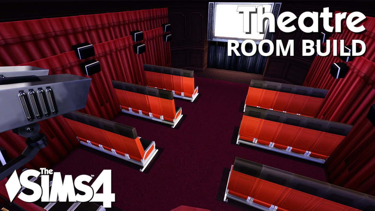 the sims 4 room build theatre youtube