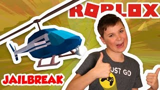 STEALING POLICE HELICOPTER in ROBLOX JAILBREAK !