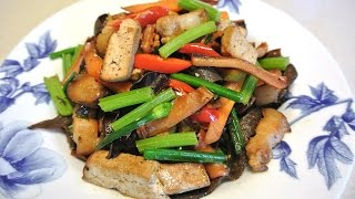Hakka Style Stir Fry 客家小炒 With Smoked Tofu Belly Pork And Octopus