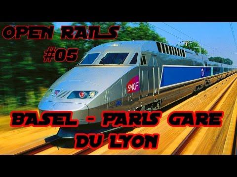 Open Rails #05 - Von Basel nach Paris Gare De Lyon (nonstop)