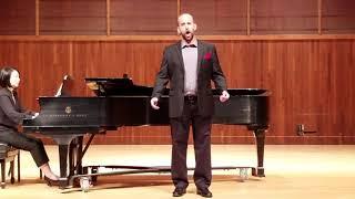 Daniel Spiotta sings Pierrot's Tanzlied from Die tote Stadt.