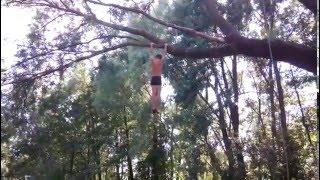 Прыжок в воду с дерева