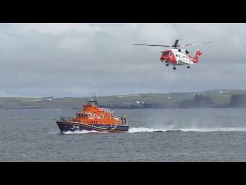 Airwaves Portrush RNLI & Irish Coast Guard Rescue Demonstration.