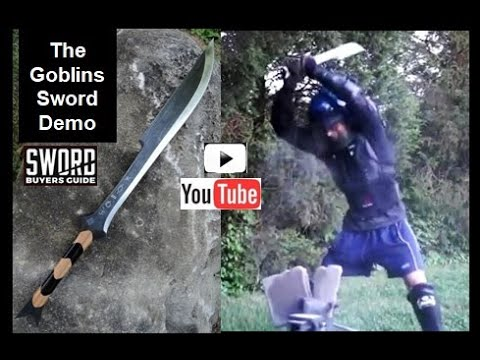 Our Goblins Sword SBG Exclusive - Extreme Durability Tests On Steel, Solid Granite Marble & Concrete