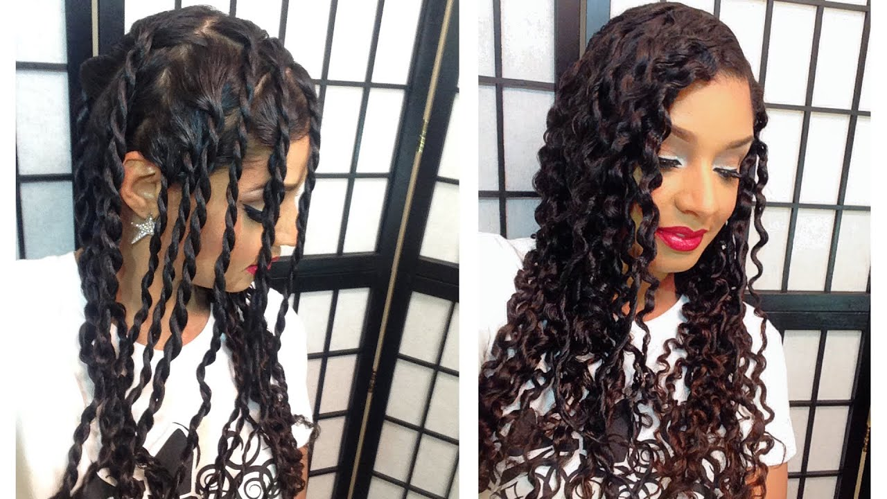 Two Strand Twist Out Tutorial Youtube