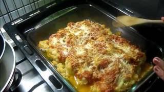 Cavolfiore al forno con pomodoro e mozzarella