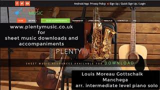 Gottschalk L.M. | Manchega  arranged for intermediate level piano