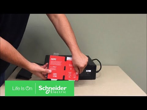 vote no on apc rs ups battery replacement connecting and replacing a battery in the back ups rs xs g schneider electric