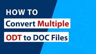 How to Convert Multiple ODT to DOC Microsoft Word Documents ?