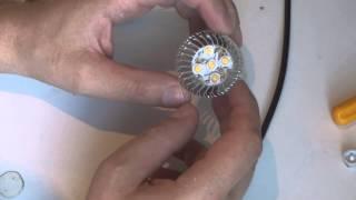 Ремонт светодиодных ламп (моргание лампы)(Светодиодные лампы моргают по нескольким причинам самые частые из них это перегрев и выход из строя одного..., 2015-05-16T15:34:42.000Z)