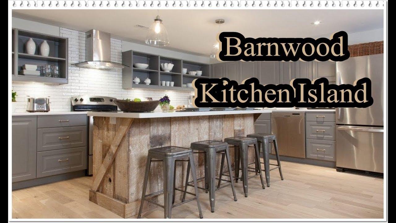 Barnwood Kitchen Island
