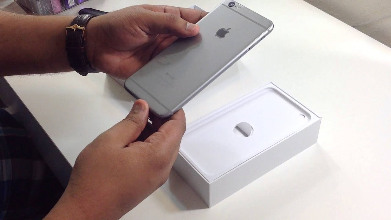 iphone 6 plus unboxing space grey 64gb youtube. Black Bedroom Furniture Sets. Home Design Ideas