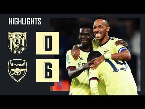 HIGHLIGHTS |  West Brom vs Arsenal (0-6) |  Carabao Cup |  Aubameyang (3), Pepe, Saka, Lacazette