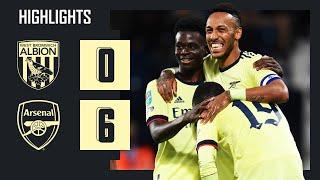 HIGHLIGHTS   West Brom vs Arsenal (0-6)   Carabao Cup   Aubameyang (3), Pepe, Saka, Lacazette