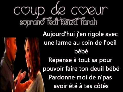 Soprano feat kenza farah coup de coeur lyrics youtube - Coup de coeur kenza farah paroles ...