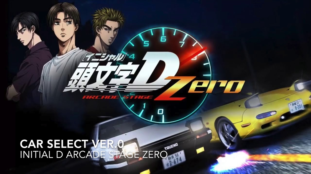 CAR SELECT / STAGE SELECT - Ver  D0 [Initial D Arcade Stage Zero]