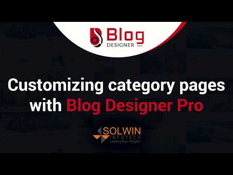 How To Customize Category Pages | Blog Designer PRO Plugin