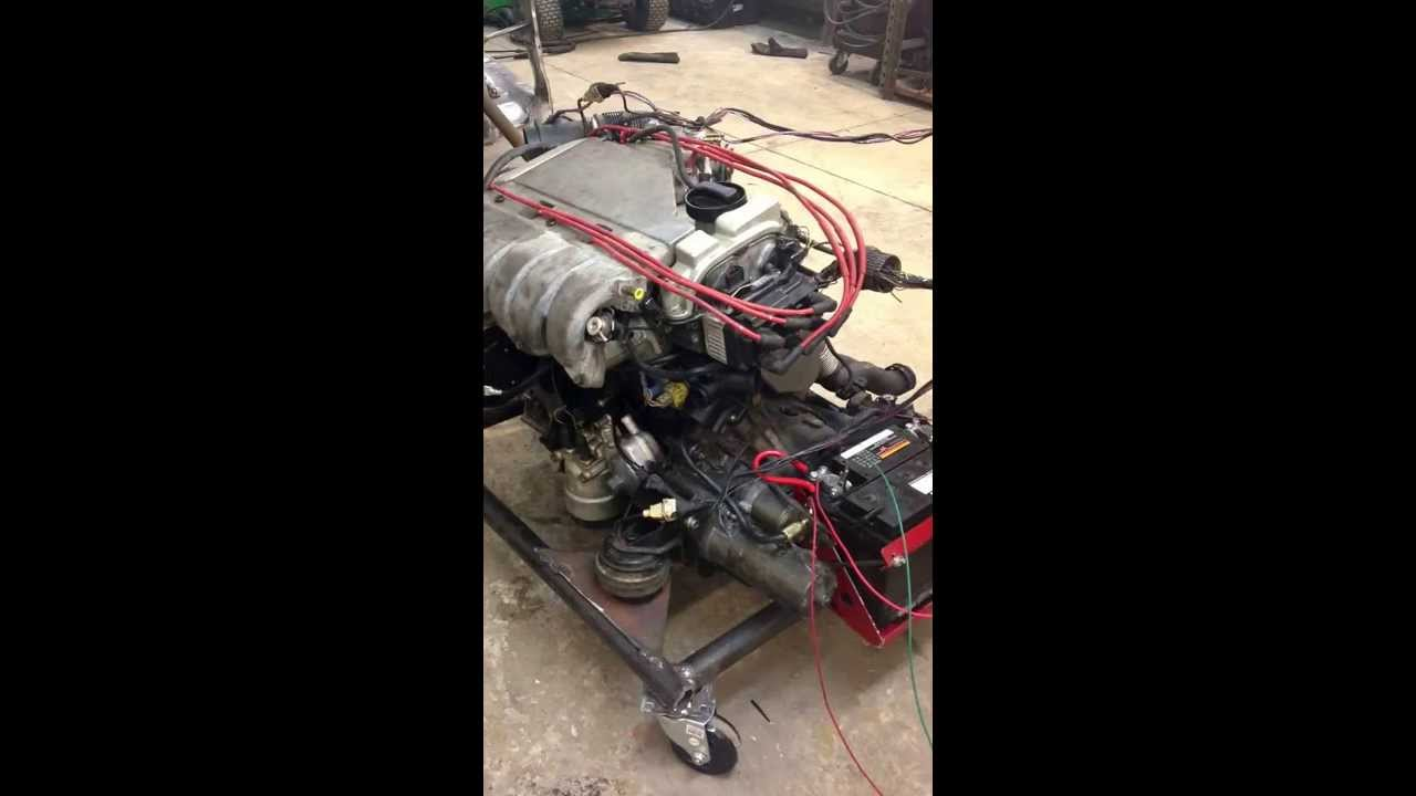 hight resolution of obd2 vr6 running on engine stand mk2 swap testing stock ecm obd2 vr6 wiring harness