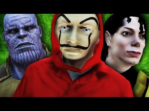 GTA V PC - La Casa de Papel, A Volta do Thanos, M. Jackson e Mais (MODS)