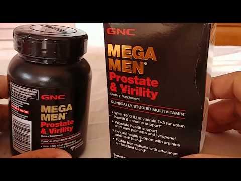 GNC MEGA MAN Prostate & Virility Multi- Vitamin Supplement