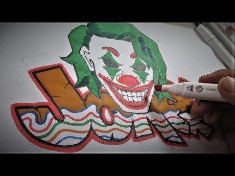 Bagaimana Cara Membuat Graffiti Karakter Joker I Dhompy Graffiti