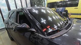 쌍용자동차 티볼리 차량의 깨진 앞유리교체, 전면유리교환…