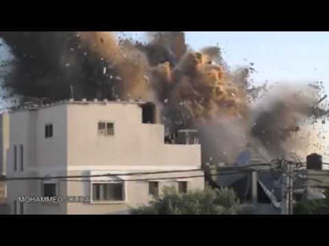 Bombing Civilian Homes in Gaza Strip (Dair Elbalah City) by Israeli F16 Jet fighters, July 9th.