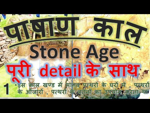 The stone age period in Hindi | pre-history period for upsc , uppsc , mppsc , bpsc | paleolithic age