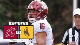 Washington State vs Wyoming Football Highlights (2018) | Stadium