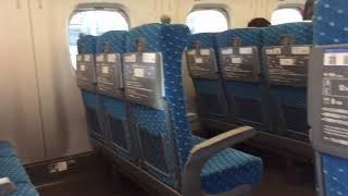 最初に、怖かったですけど、新幹線の中に安心と感じた。